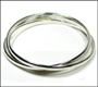 Trinity Sterling Silver Bangle