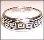 Greek Key Sterling Silver Spin Ring (Size 13)