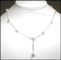 """Multi-Color Freshwater Pearl Tin Cup Necklace 17.5"""""""