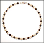 Freshwater Pearl and Black Onyx Anklet (Plus Size)
