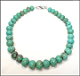 Graduated Rondelle Turquoise Necklace
