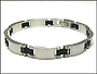 Men's Matte Finish Stainless Steel Link Bracelet