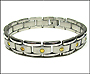 Men's Two Tone Stainless Steel Link Bracelet