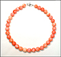 Pink Shell Bead (12 mm) Necklace