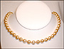 Swarovski Gold  Pearl  (8 mm) Necklace