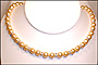 Swarovski Gold Pearl  (8 mm) Necklace with Rondelles