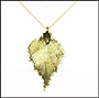 Gold Birch Leaf Necklace