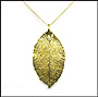 Gold Rose Leaf Necklace