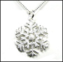 "Snow Flake Silver Necklace 16"" or 18"""