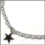 "Star Charm Silver Link Necklace with Lobster Clasp (Regular 18"")"