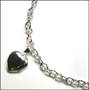 Heart Locket Silver Link Necklace 17""