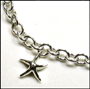 "Starfish Charm Silver Link Necklace (Regular 18"")"