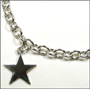 "Star Charm Silver Link Necklace (Medium 18"")"