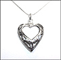 Heart Shape Cutout Silver Necklace