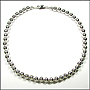 Sterling Silver Bead (8 mm) Necklace 18""