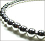 Graduated Bead Sterling Silver Beaded Necklace (1) 16""