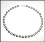 Sterling Silver Beaded (10 mm) Necklace 18""