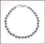 "Sterling Silver 8 mm Beaded Bracelet  (8"" - 8.5"")"