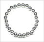 "Sterling Silver 8 mm Beaded Stretch Bracelet  (7"" - 7.5"")"