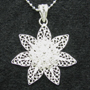 "Sunflower Sterling Silver Woven Necklace 16"" or 18"""