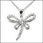 "Dragonfly Sterling Silver Necklace 16"" or 18"""