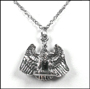 3D Eagle Pendant Silver Necklace