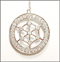 Voile Pendant Silver Necklace