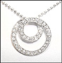 Swirl Circle of Life Pendant Silver Necklace