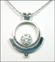 Rotation CZ Stainless Steel Necklace