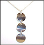 Triple Disc Drop Sterling Silver Necklace 16""