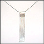 Fringe Chain Pendant Silver Necklace