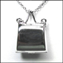 Polished Purse Locket Silver Necklace