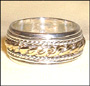 Two Tone Tibetan Sterling Silver Spin Ring Size 13