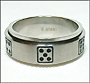 Domino Stainless Plus Size Steel Spin Ring Size  12, 13