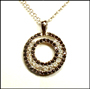Black and White CZ Circle Necklace