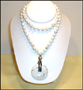Howlite Necklace with Disc Pendant  26""