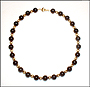 Black Onyx and Gold Filled Bead Necklace 18""