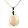 Teardrop Rose Quartz Necklace in Silver