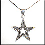 Marcasite Star Necklace with Snake Chain