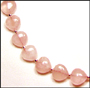 Heart Shaped Rose Quartz Necklace