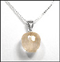 Apple Shaped Rose Quartz Necklace