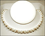 Swarovski White Pearl  (8 mm) Necklace with Rondelles