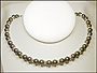 Swarovski Tahitian Color Pearl  (8 mm) Necklace with Rondelles