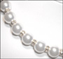 Swarovski White Pearl  (12mm) Necklace with Rondelle