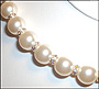 Swarovski Cream Rose Pearl  (12mm) Necklace with Rondelle