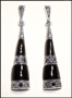 Black Onyx Marcasite Silver Dangle Earrings