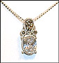 Oval CZ Necklace in Marcasite Silver