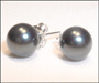 Swarovski Tahitian Color Pearl Stud Earrings in Silver  (8 mm)