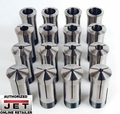 JET 650014 16 Piece 5-C Collet Set for Lathes and Grinders Set