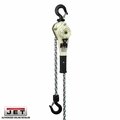 JET 235020 1.6 Ton LVR Hoist + 20' Lift and Ship Yard Hooks